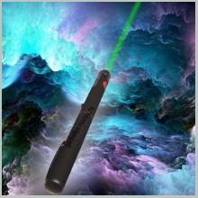 Зеленая лазерная указка 100 мВт с насадкой